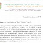 Propositions de DMJ pour le Grand Dialogue National