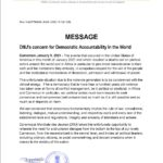 DMJ's concern for Democratic Accountability in the World